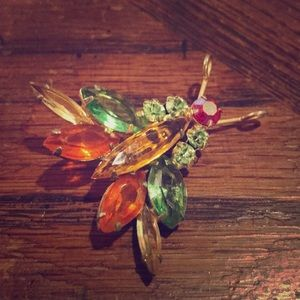 Juliana D & E colorful insect brooch